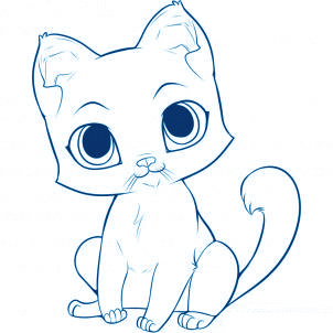 Comment dessiner un chat allodessin - Un chat dessin ...