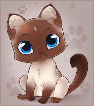 картинки котят для срисовки