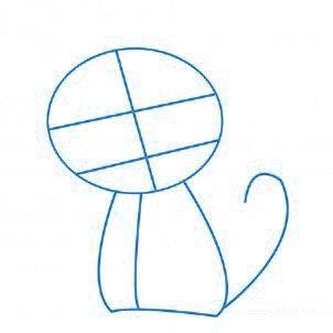 dessiner un chat - etape 1