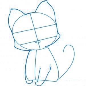 dessiner un chat - etape 2