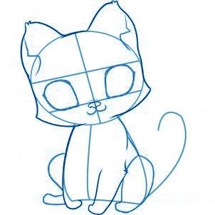 dessiner un chat - etape 3