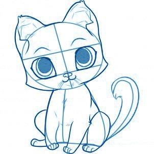 dessiner un chat - etape 4