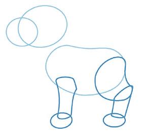 dessiner un chien - etape 2