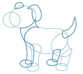 dessiner un chien - etape 3
