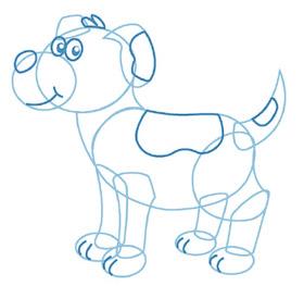 dessiner un chien - etape 4