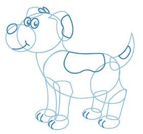 dessiner un chien -