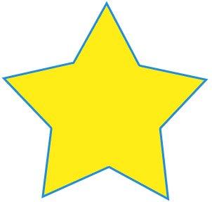 dessin d'étoile terminé