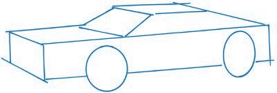 dessiner une voiture - etape 1