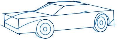 dessiner une voiture - etape 2