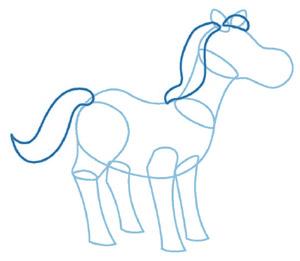 dessiner un cheval - etape 3