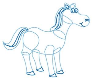 dessiner un cheval - etape 4
