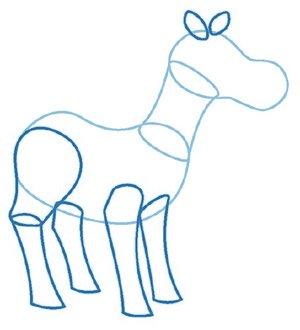 dessiner un cheval - etape 2