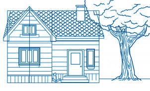 Comment dessiner une maison allodessin - Toit de maison dessin ...