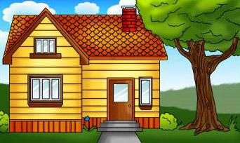 dessin de maison terminé