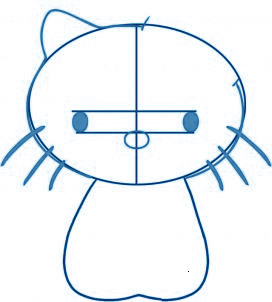dessiner Hello Kitty - etape 2
