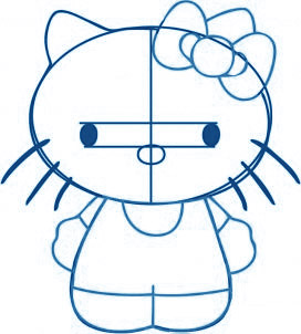 dessiner Hello Kitty - etape 3