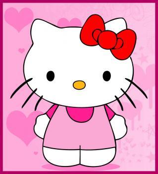 dessin de Hello Kitty terminé