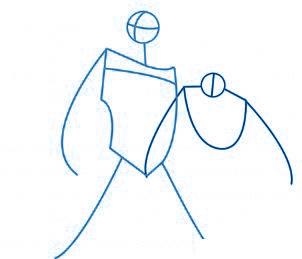 dessiner Batman et Robin - etape 2