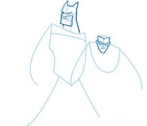 dessiner Batman et Robin - etape 4