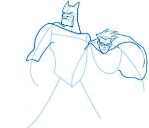 dessiner Batman et Robin - etape 5