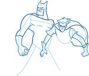 dessiner Batman et Robin - etape 6