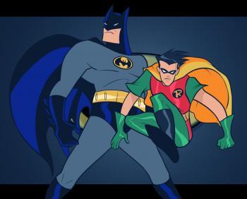 dessin de Batman et Robin terminé