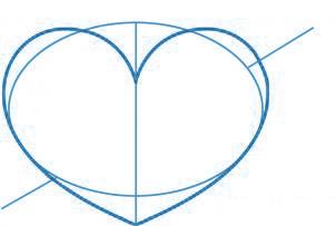 dessiner un coeur - etape 2