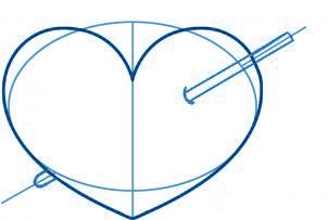 dessiner un coeur - etape 3