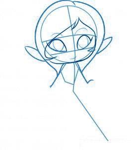 dessiner une fée - etape 3