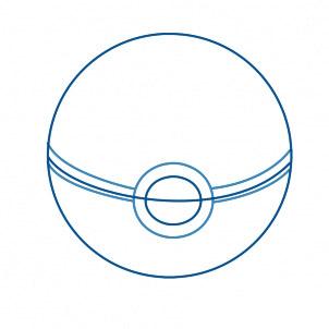 dessiner une pokeball - etape 4