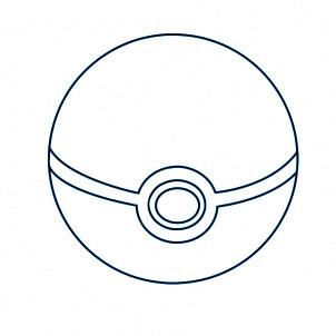 dessiner une pokeball - etape 6