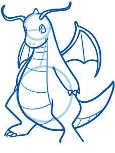 dessiner un dracaufeu le pokemon - etape 7