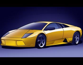 dessin de voiture de sport lamborghini murcielago terminé