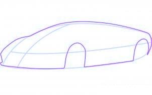 dessiner une voiture de sport lamborghini murcielago - etape 2
