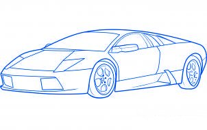 comment dessiner une voiture de sport lamborghini murcielago allodessin. Black Bedroom Furniture Sets. Home Design Ideas