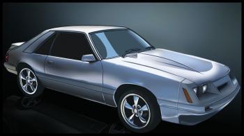 dessin de voiture Mustang terminé
