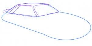 dessiner une voiture Mustang - etape 2