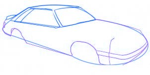 dessiner une voiture Mustang - etape 3