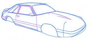 dessiner une voiture Mustang - etape 4