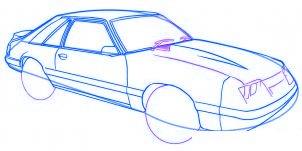 dessiner une voiture Mustang - etape 5