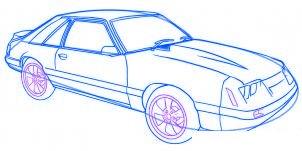dessiner une voiture Mustang - etape 6