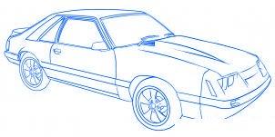 dessiner une voiture Mustang - etape 7