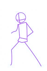 dessiner gingka du dessin anime beyblade - etape 1