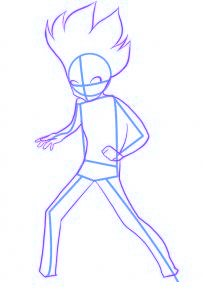 dessiner gingka du dessin anime beyblade - etape 2