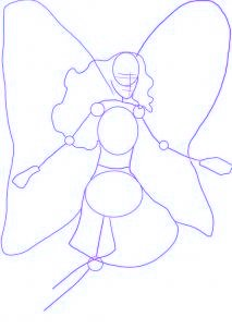 dessiner barbie mariosa - etape 1