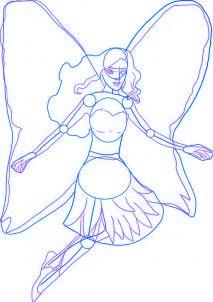 dessiner barbie mariosa - etape 2