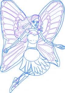 dessiner barbie mariosa - etape 3