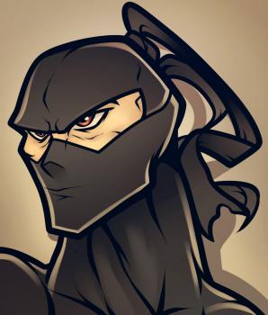 dessin de visage ninja termine terminé