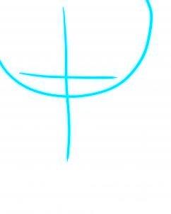 dessiner un visage etonne - etape 1