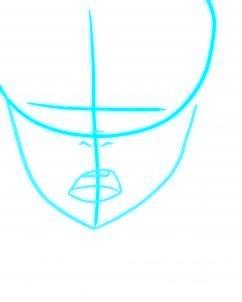 dessiner un visage etonne - etape 2